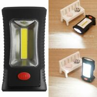 COB LED + 3 LEDs Working Flashlight Lamp Magnetic Hanging Camping Light Torch