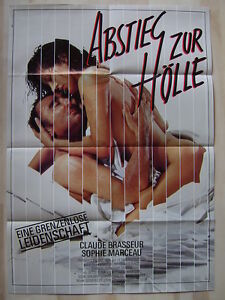 ABSTIEG ZUR HÖLLE - Sophie Marceau - Claude Brasseur - Filmplakat A1 - EROTIK