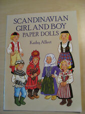 Scandinavian Girl and Boy Paper Dolls from 1993