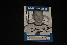 HOF JOHNNY BOWER 2006 IN THE GAME SIGNED AUTOGRAPHED CARD #21 MAPLE LEAFS