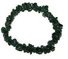 Green Aventurine crystal chip healing bracelet - Free Postage