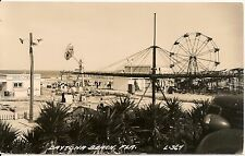 Amusement Rides at Daytona Beach Florida RP Postcard Amusement Park