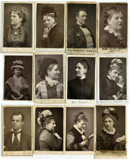 12 cdv Victorian theatre actor actress woodburytype music hall portrait fashion