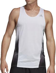 adidas Sub 2 Mens Running Vest - White