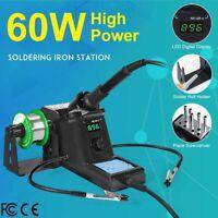 60W 110V Digital Soldering Iron Station Kit Adjustable Temperature LED Display