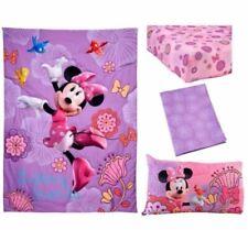 Brand New Disney Minnie Mouse Fluttery Friends Toddler Bedding - 4 Piece Set