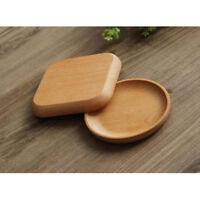 Wooden Plate Breakfast Food Fruit Dish Snack Serving Tray Salad Bowl Platter