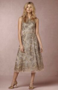 NEW $300 BHLDN Anthropologie Hitherto Eleanor Lace Dress Size 14