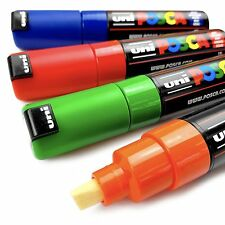 Uni-Ball Posca Paint Marker Art Pen - PC-8K - Wallet of 4 - Assorted Colours