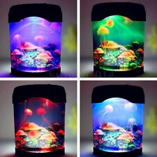Jellyfish Jelly Fish Tank Sea Water Lamp Bedroom Mood Night Light Color Changing