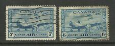 Canada 1942-43 6ct & 7ct Blue Air training camp SG 399 - 400 ( K249 )