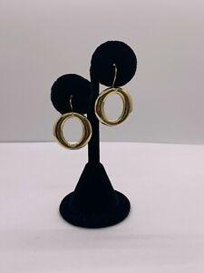 Tiffany & Co Sevillana Circle Dangle Dangling Earrings Rare 18k Yellow Gold
