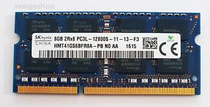 Hynix 8GB DDR3L 1600MHz Laptop RAM ~ PC3L-12800S SODIMM Memory 1.35v 204pin