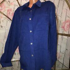 Alfred Dunner Women's Size 14 Button Down Long Sleeve Shirt Top Blouse Blue