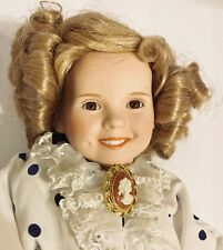 Danbury Mint Bisque Porcelain Shirley Temple Bright Eyes Doll-Missing Orig Purse