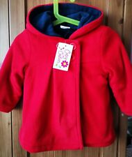 Lovely baby girl coat Fleece Cutey Couture 12-18 Months, Red,(Navy blue Lining)