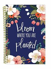 bloom daily planners 2017-18 Academic Year Daily Planner, Bloom Planted Aug-Jul