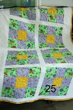 Handmade Spring Dog Themed Quilt 100% for Animal Charity