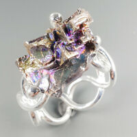 Unique Jewelry Natural Bismuth 925 Sterling Silver Ring Size 8/R113946