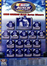 Vtg 1998 Busch Series Winners Nascar Racing Schedule Poster Dale Earnhardt Jr
