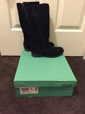 Clarks Mimic Diva black suede long boot uk3/ eur35/au5
