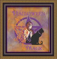 """COMPLETE XSTITCH MATERIALS  """"HALLOWEEN GREETINGS"""" RL48 by Passione Ricamo"""