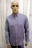 GRIFONI Sartoria Taglia L Camicia Uomo Shirt Cotone Casual Manica Lunga