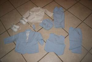 Babyanzug, Taufanzug, Festanzug 7-teilig , Junge Größe 74/80, Lantinea