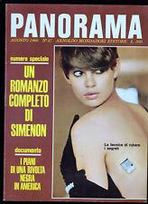GEORGES SIMENON L' UOMO COL CAGNOLINO PANORAMA N. 47 AGOSTO 1966 ILLUSTRATO