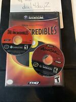 The Incredibles & The Avatar Nintendo GameCube 2004 2 Games Lot Tested