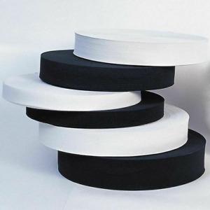 ELASTIC FLAT ELASTIC WAIST BAND CUFFS WOVEN BLACK & WHITE STRETCH