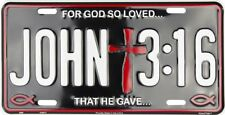 John 3:16 Christian Christ Aluminum Metal Novelty Car License Plate Sign Tag