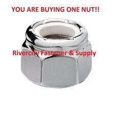 (1) 5/16-18 Hex Nylon Insert Lock Nuts 5/16 x 18 Coarse Thread  Nylock Chrome