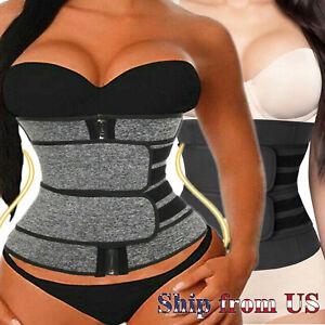 Women Waist Trainer Corset Sauna Sweat Weight Loss Body Shaper Yoga Slimmer Belt