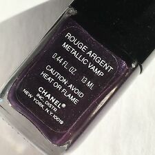 Chanel Le Vernis Metallic Vamp Rouge Argent Nail Polish, Worldwide Shipping