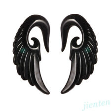 Angel Wings Ear Expander Plugs Tunnels Stretcher Spiral Body Piercing Jewelry