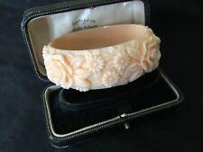 Stunning Vintage Moulded Peach Flower Bangle #5767