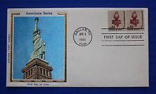 """United States (1594) 1981 Statue of Liberty Torch Colorano """"Silk"""" FDC"""