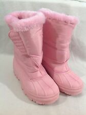 Pink Winter Ankle Boots Faux Fur Lining Very Warm Excellent Condition Size 5