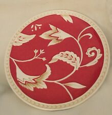 "FITZ & FLOYD TOWN & COUNTRY DESSERT PLATE (2) RED WHITE FLORAL Salad 8 1/2"" EXC"
