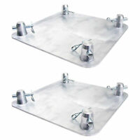 "Global Truss 12"" x 12"" Aluminum Base Plate for F34 Truss Box, 2 Pack | SQ-4137"