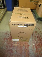 HITACHI CABLE 30237-008 CAT6 CAT 6 ECO CMP PLENUM WHITE 1000FT NEW SEE PHOTOS