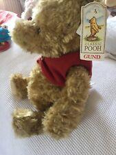 "15"" Gund Classic Winnie The Pooh Teddy Bear With Original Red Jumper"