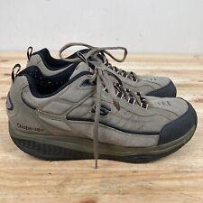 Skechers SHAPE UPS TAGLIA 10.5 Uomo Scarpe da passeggio tonificanti Pebble marrone molto pulito