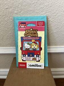 Brand New Nintendo Animal Crossing & Sanrio Amiibo 6 Card Pack   Fast Ship