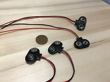 "4 Pieces - 9V Battery Holder Clip Connector Snap Hard Shell 6"" Leads Wire A2"