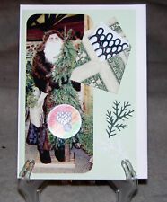Origami Folded Dollar Envelope Handcrafted Christmas Card for Bowlers