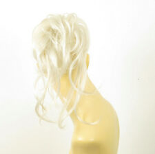 postiche chouchou chignon cheveux blanc ref: 22 en 60