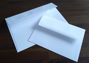 25 Bright White Size A2 - A6 - A7 Invitation and Rsvp Card Wedding Set Envelopes