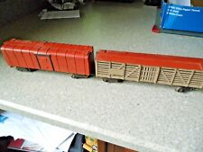 Antique Wooden Box Car & Cattle Box Car  - PreWar